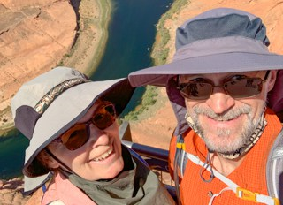 Karin and Franz continure their RV adventure at Horseshoe Bend