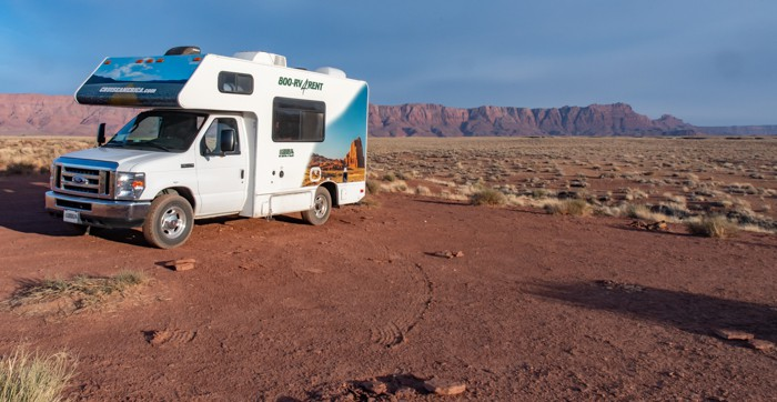 RV adventure starts at the Vermillion Cliffs camp site