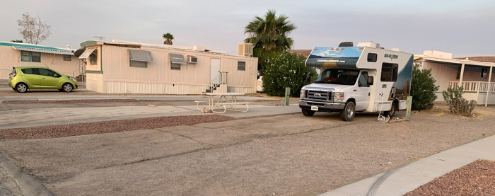 Callville trailer park has a few RV slots with electric and water