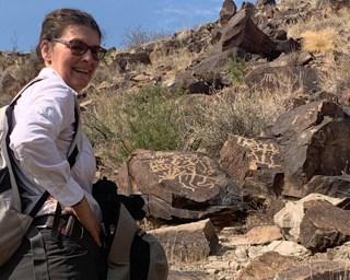 Karin in Petroglyph canyon
