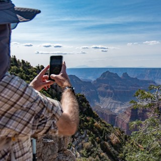 Franz taking photo of the Grand Canyon