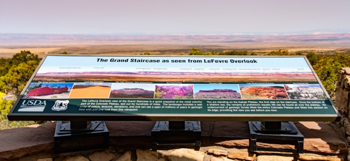 LeFevre Overlook signs match up with the view