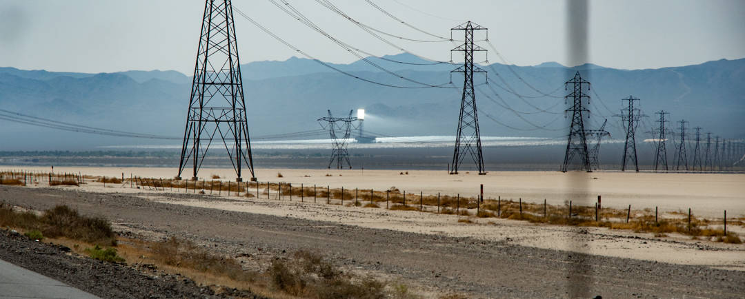 Ivanpah Solar Power Facility as seen from the highway