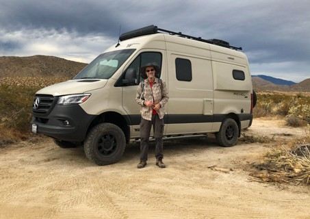 Franz in front of the Revel RV 2021